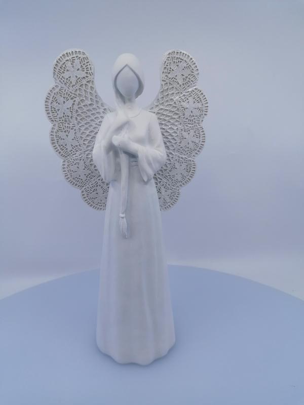 Anjel biely 25x11cm
