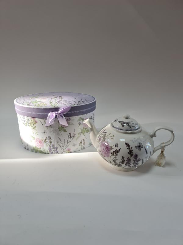 Čajník, keramický, levanduľa