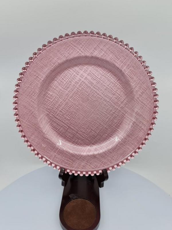 Sklenený dekoračný tanier 2490