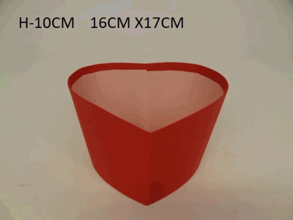 Flowerbox, srdce, červený
