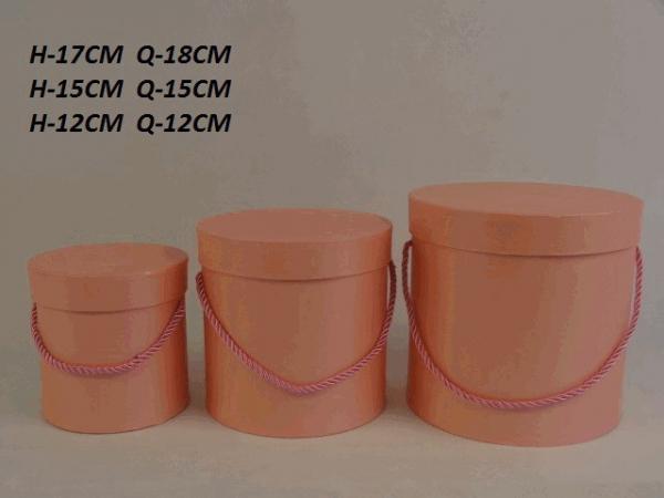 Sada flowerboxov, ružovkastá farba, 3 ks v sade
