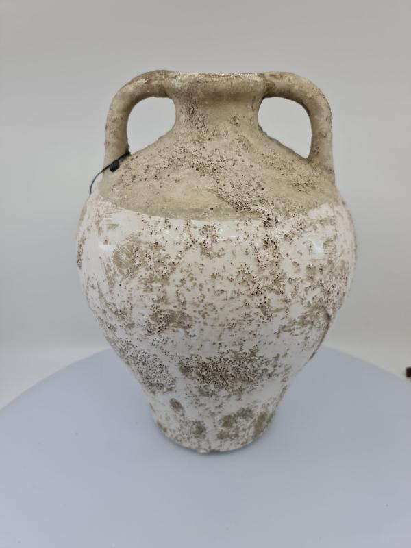 Dekoračný džbán KADIRA, svetlosivý, 22x22x31 cm