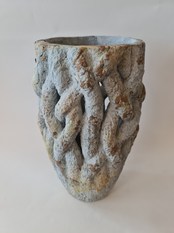 Váza DALMIRA, svetlosivá, 23x40,5 cm