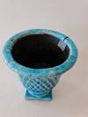 Váza LAZURITE, azúrovo modrá, 18,5x22,5 cm