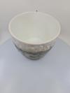 Nádoba MIDAXI, bielo-hnedá, 22x18 cm