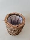 Drevená nádoba FOREST, hnedá, 15x15 cm
