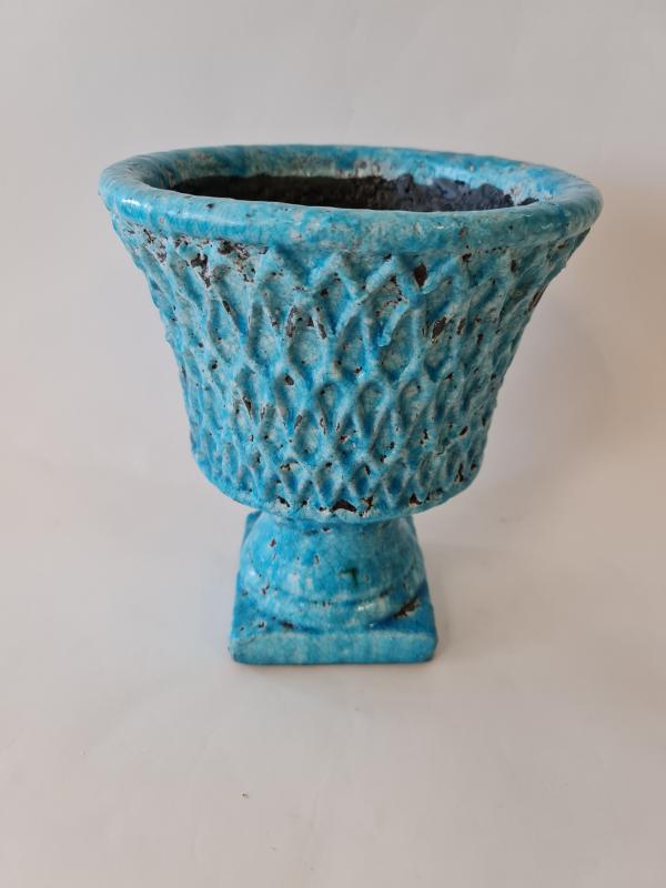 Váza LAZURITE, azúrovo modrá, 22,5x27 cm