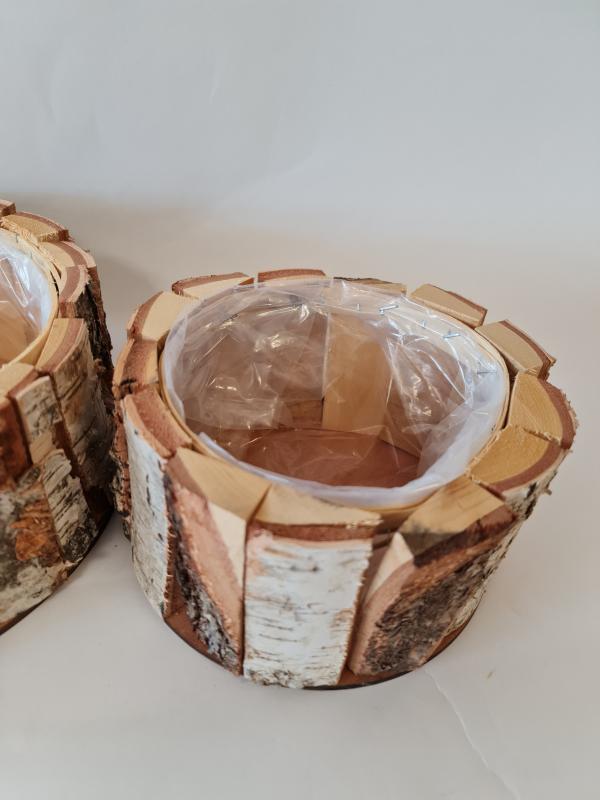 Sada drevených nádob FOREST, hnedá, 2 ks v sade