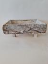 Drevená nádoba FOREST, sivá, 39x29x15 cm