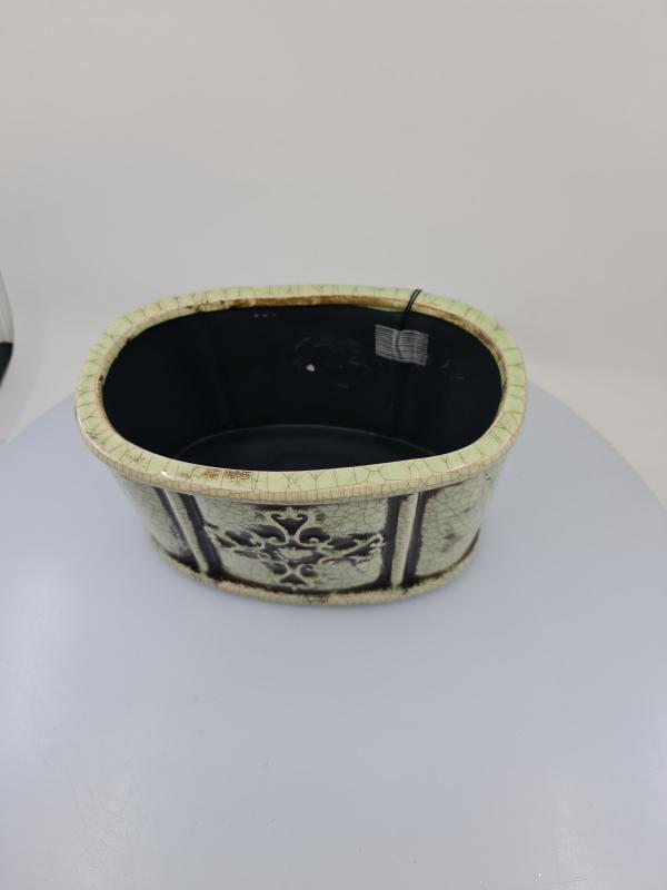 Nádoba MELUZA, antický štýl, svetlá, 22x14x13,5 cm