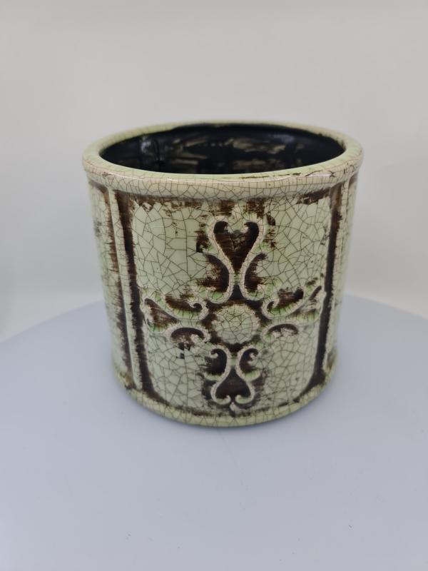 Nádoba MELUZA, antický štýl, svetlá, 17x18 cm