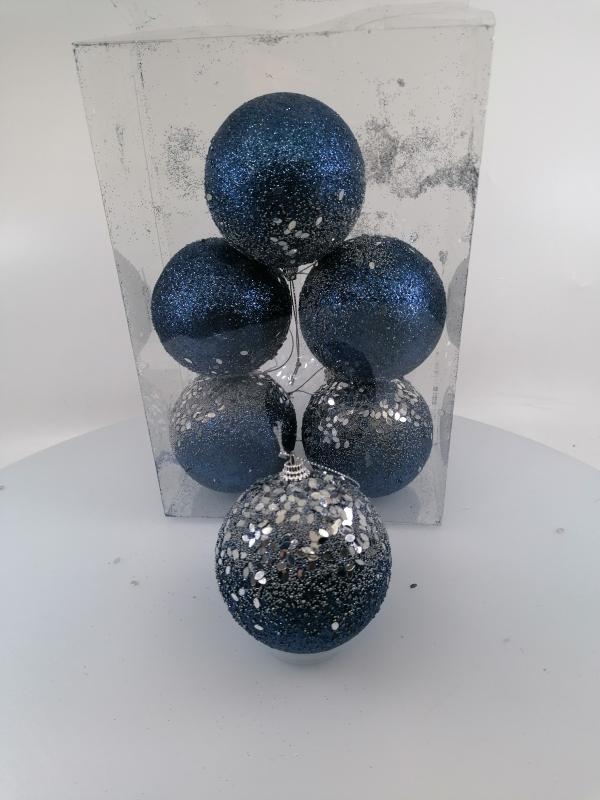 Vianočné gule modré 8cm