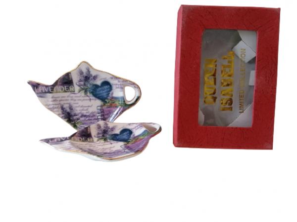 Tanierik na čajové vrecúško Levanduľa    2sada