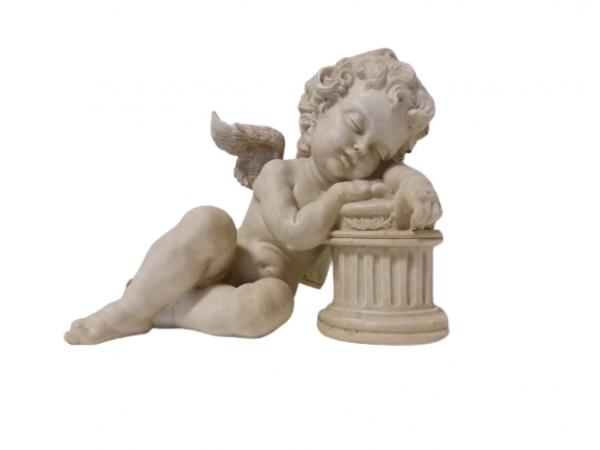 Soška anjel spiaci, svetlý, 30x26 cm