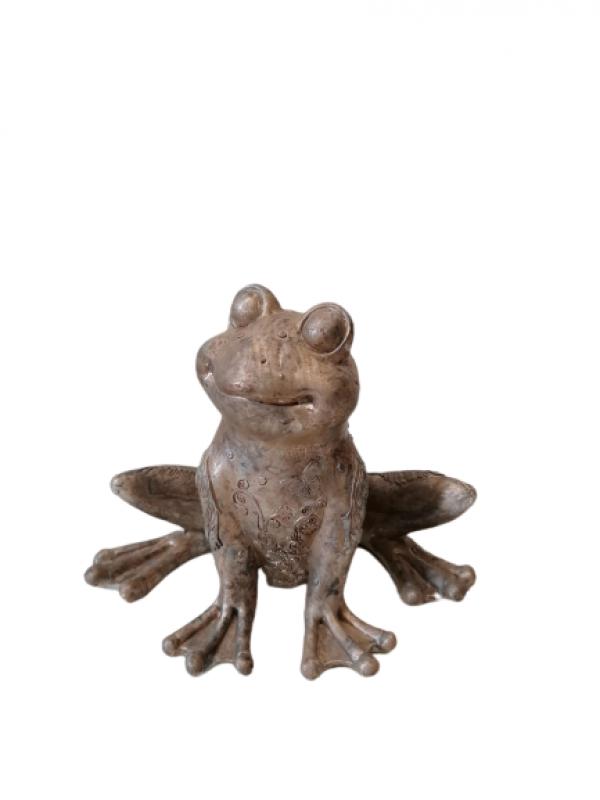 Záhradná socha Žaba medená 19x20cm