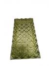 Sklenená tácka, zelená, 17x33x3 cm