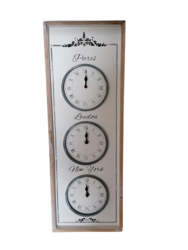 Drevené nástenné hodiny 67x24cm