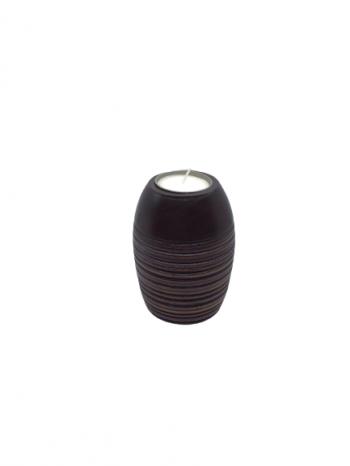 Drevený svietnik na čajovú sviečku , 6,5c10,5 cm