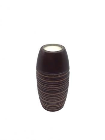 Drevený svietnik na čajovú sviečku , 6x15,5 cm