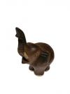 Socha Drevený slon 14x11 cm