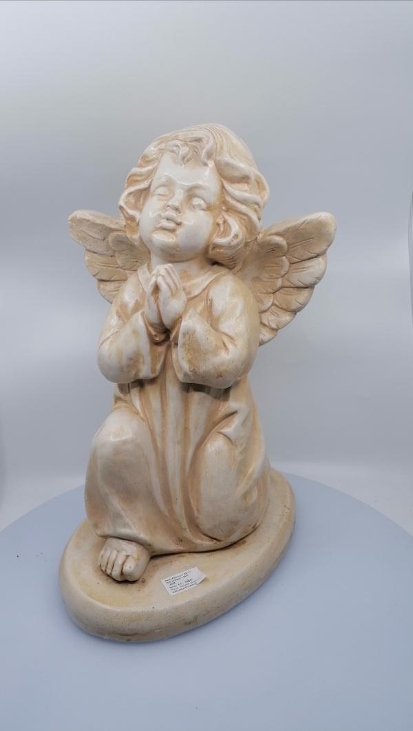 Dekoračné sošky anjelov, kremové, 45 cm