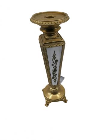 Svietnik na stôl polyrezing ,zlatý , 32x10 cm