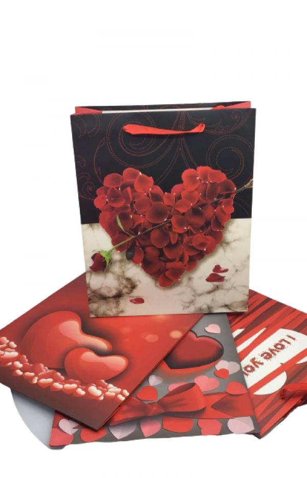 Darčeková taška Valentín 12ks 32x26x10cm