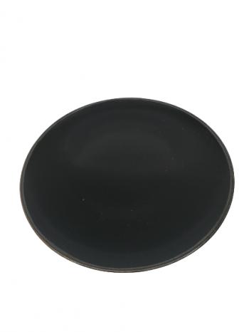 Plytký tanier, čierna 28x2cm