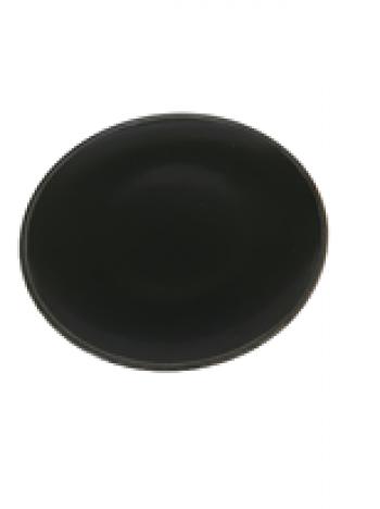 Dezertný tanier čierny 21x2cm