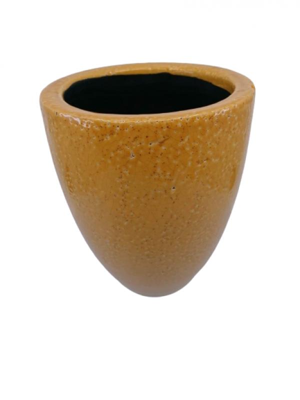 Keramický kvetináč, hnedá, 20x16 cm
