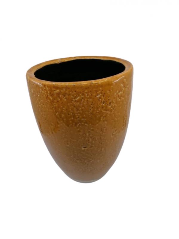 Keramický kvetináč, hnedá, 25x20 cm