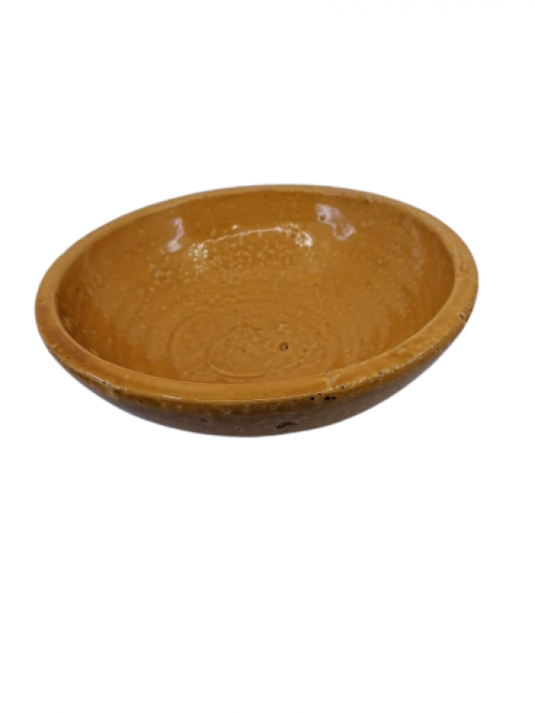 Keramická misa, hnedá, 8x23 cm