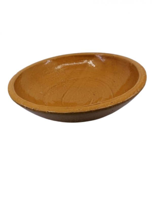 Keramická misa, hnedá, 10x30 cm