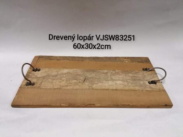 Drevený podnos Lopár 60x30x2 cm