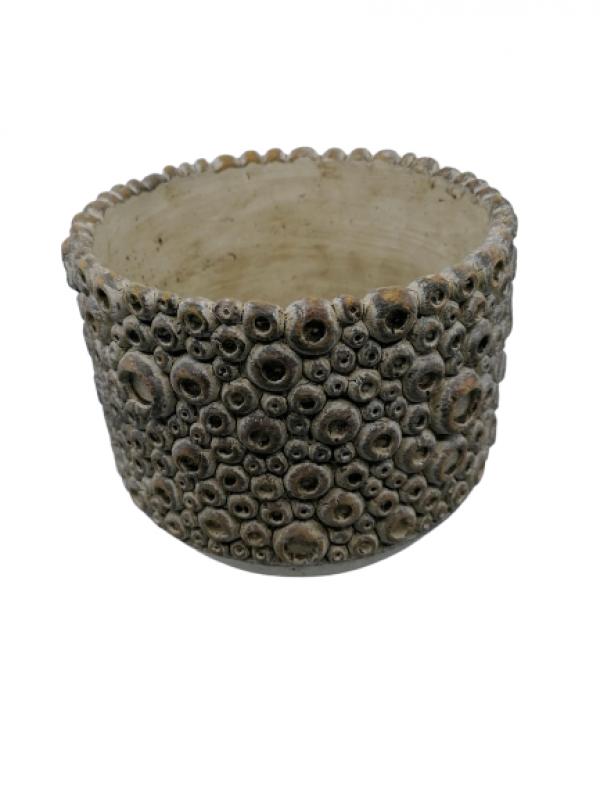 Keramický črepník s bublinkami 17x20cm