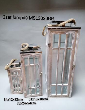 3set lampáš MSL3020GR