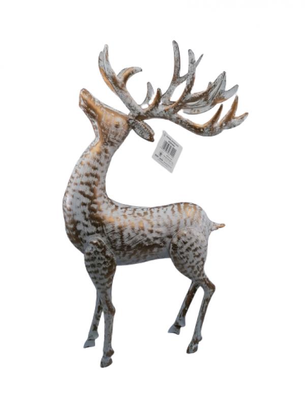Figurína Kovový jeleň 44x23x7 cm