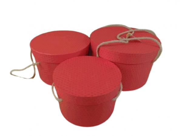 Flowerbox 3set červený 1-Q27cm H17cm / 2- Q23cm H15cm / 3-Q20cm H13cm