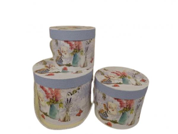 Flowerbox 3set krajinka 1- Q23cm H20cm / 2- Q20cm H16,5cm / 3- Q16,5cm H14cm