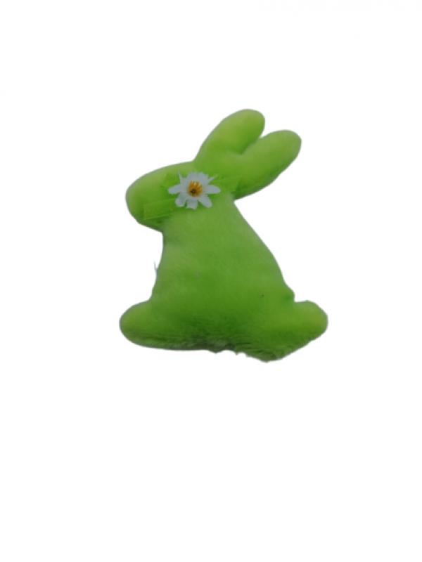 Veľkonočný zajac zelený 12x9cm