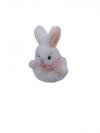Veľkonočný zajac biely 10x7cm