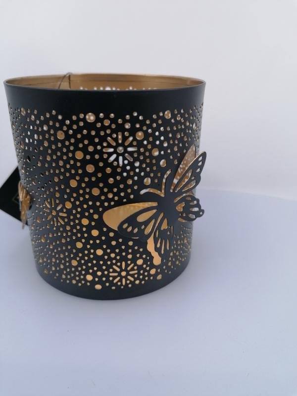 Kovový svietnik 20x12 cm