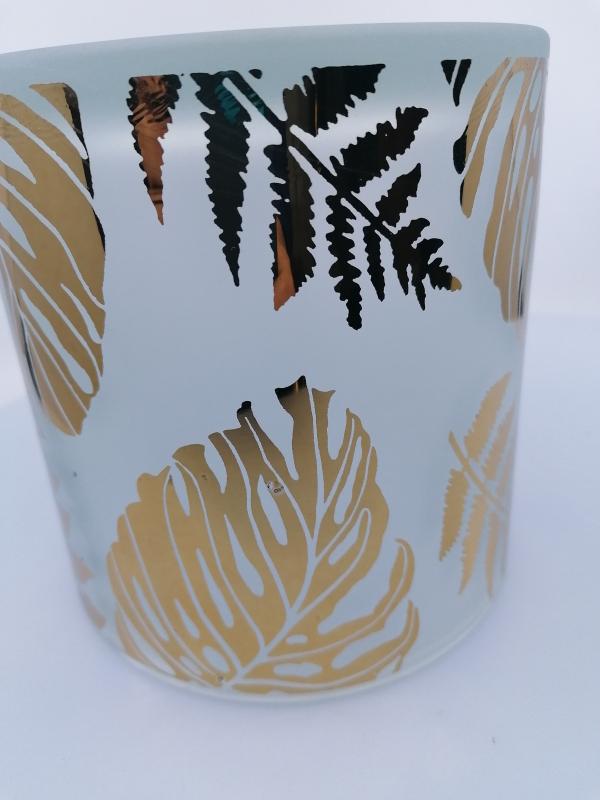 Sklenený svietnik 15x15 cm