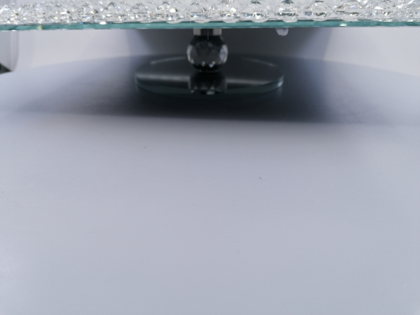 Sklenený podnos zrkadlový 30x30x6 cm