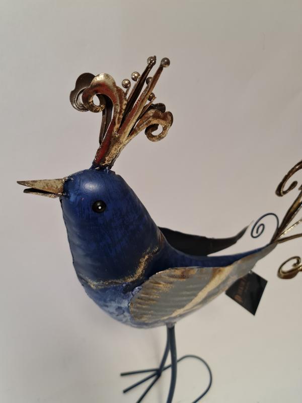 Figurína Plechový vták 58x45x7 cm