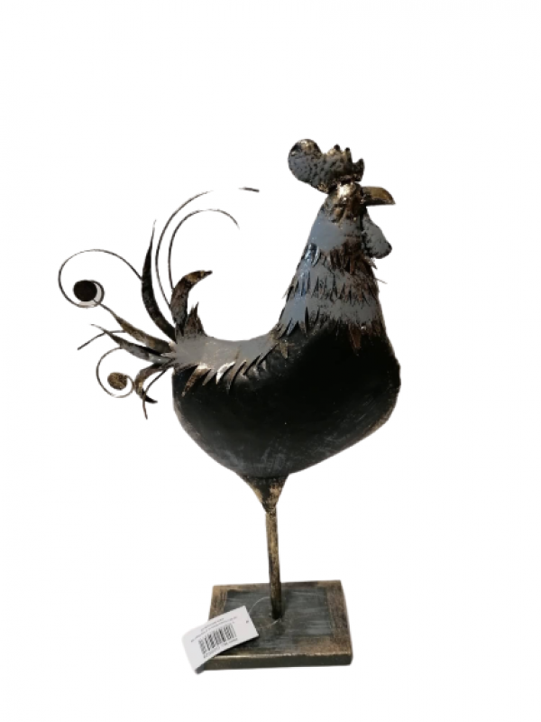 Figurína Plechový kohút  33x10x55 cm