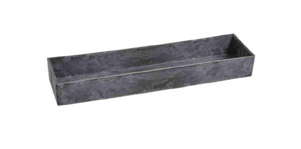 Miska na dekorovanie, čiernosivá, 42x10 cm