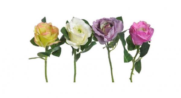 Umelý kvet ruža set Columbia krátka
