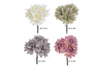 Umelý kvet - Dalia, rôzne farebné varianty, 25 cm