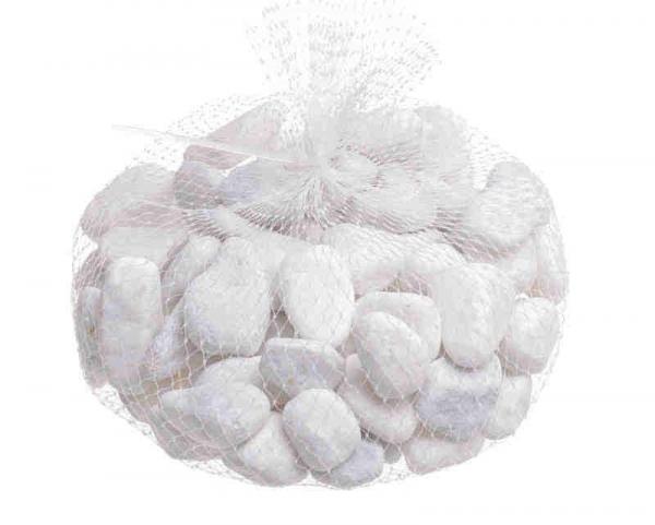 Dekorácia biele kamene na aranžovanie 1kg